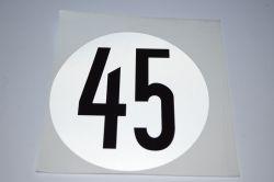 Geschwindichkeitsschild 45